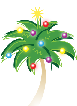 troppo cards logo - tropical christmas