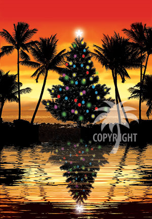 tropical sunset christmas